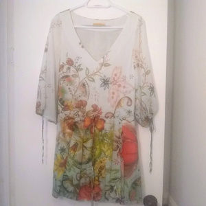 Alice Olivia Madame Butterfly Silk Print Dress